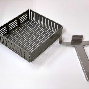 Shishakohle - Gitterkorb aus gestanztem Schwarzblech für den Zyklon